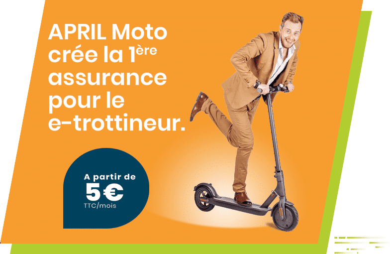 APRIL Moto lance l'assurance e-trottineur